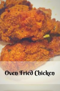 Pin for oven fried chicke recipe