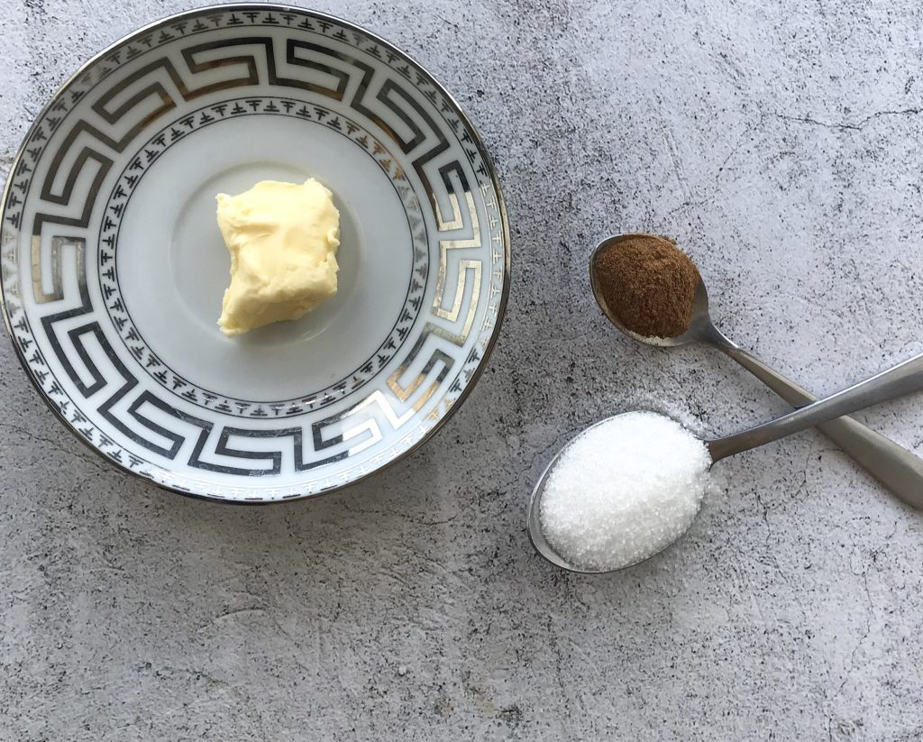 Image of ingredients for puff pastry Palmiers